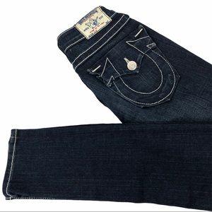"True Religion ""Julie"" Skinny Jeans Dark Wash Sz 24"